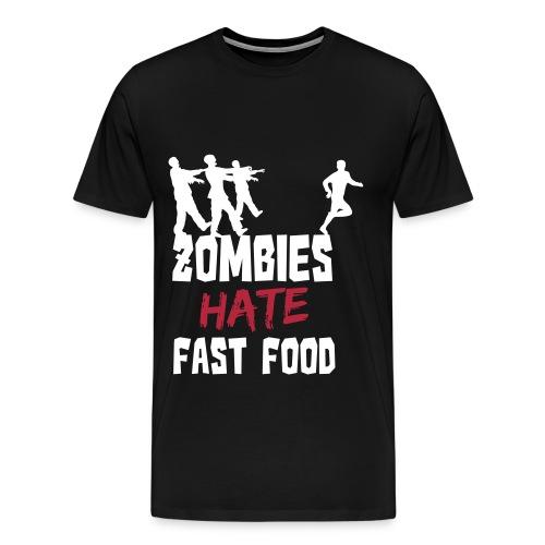 Zombie Fast Food - Männer Premium T-Shirt