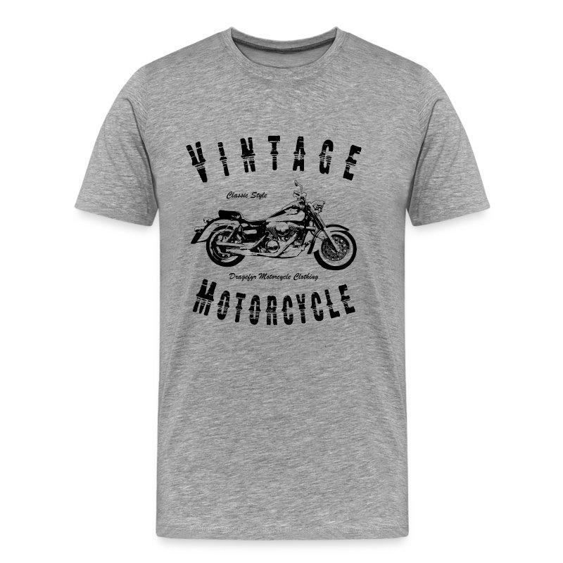Biker Langarm-Shirt | Vintage Motorcycle (Black) - Männer Premium T-Shirt