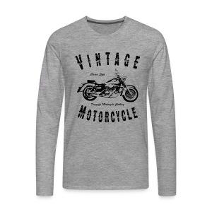 Biker T-Shirt   Vintage Motorcycle (Black) - Männer Premium Langarmshirt