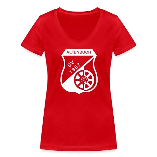 SVA Rot Weiß Women - Frauen Bio-T-Shirt mit V-Ausschnitt von Stanley & Stella