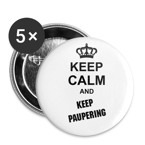 pauper buton - Buttons groot 56 mm (5-pack)