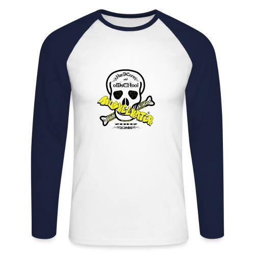 Baseballshirt Skull black  - Männer Baseballshirt langarm