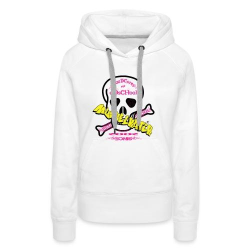 Damen Hoody Skull pink - Frauen Premium Hoodie