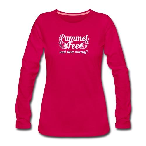 Pummelfee Glitzer Langarmschirt - Frauen Premium Langarmshirt