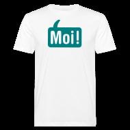 T-shirts ~ Mannen Bio-T-shirt ~ Mannen Moishirt Wit/groen