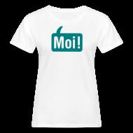T-shirts ~ Vrouwen Bio-T-shirt ~ Hoi Shirt Wit/Groen