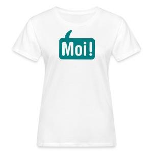 Hoi Shirt Wit/Groen - Vrouwen Bio-T-shirt