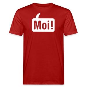 Moi Shirt Rood/Wit - Mannen Bio-T-shirt