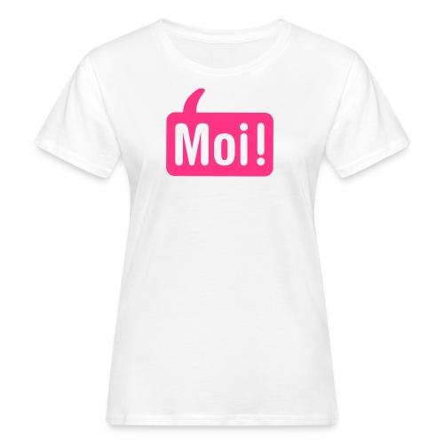 Vrouwen Moishirt wit / roze - Vrouwen Bio-T-shirt