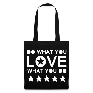 Stoffbeutel - DO WHAT YOU LOVE WHAT YOU DO I Mehr auf Facebook unter WORTFORM