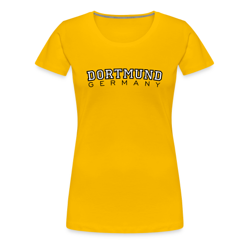 Dortmund Germany T-Shirt (Damen Gelb/Schwarz/Weiß) - Frauen Premium T-Shirt