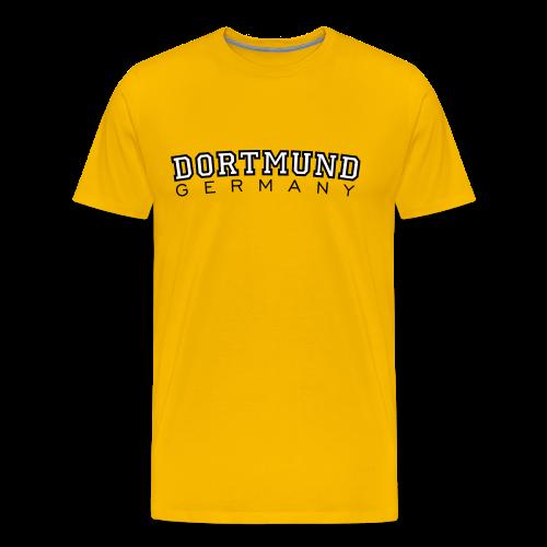 Dortmund Germany T-Shirt (Herren Gelb/Weiß/Schwarz) - Männer Premium T-Shirt