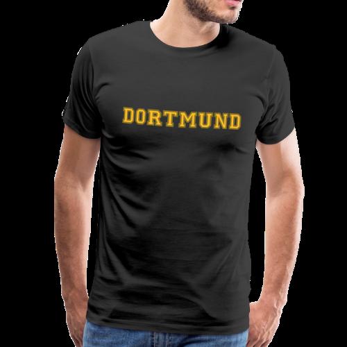 Dortmund College (Schwarz/Gelb/Gold) Premium Herren T-Shirt - Männer Premium T-Shirt