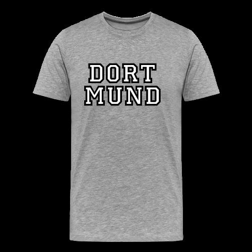 Dortmund College T-Shirt (Herren Grau Schwarz/Weiß) - Männer Premium T-Shirt