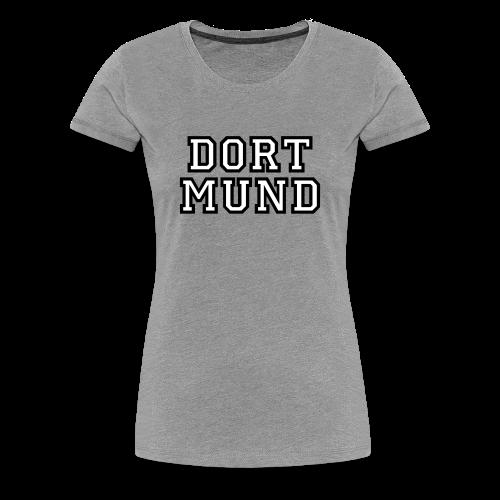 Dortmund College T-Shirt (Damen Grau Schwarz/Weiß) - Frauen Premium T-Shirt