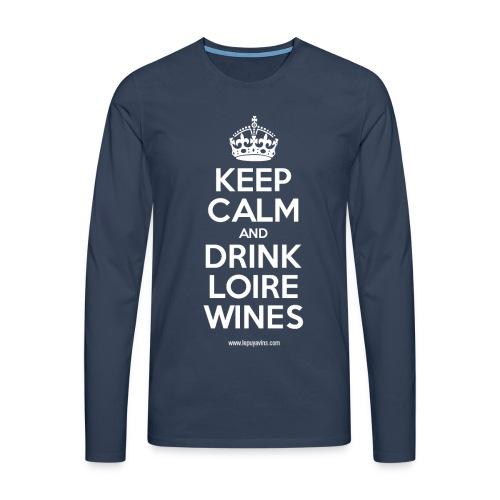 Keep Calm by Le Puy à Vins - T-shirt manches longues Premium Homme