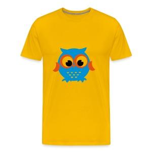 Eule blau - Männer Premium T-Shirt