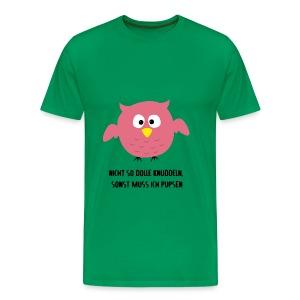 Eule knuddeln - Männer Premium T-Shirt