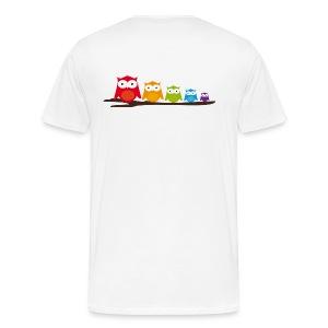 Eulen-Familie - Männer Premium T-Shirt