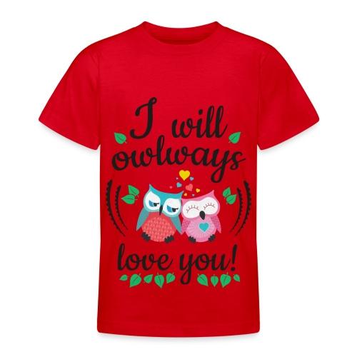 Love Eule - Teenager T-Shirt