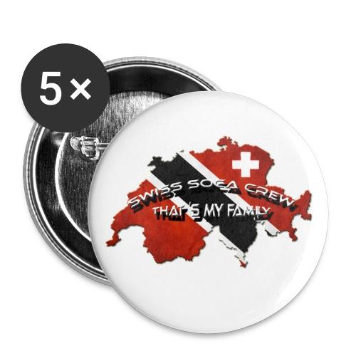 Swiss Soca Crew Button - Buttons klein 25 mm (5er Pack)