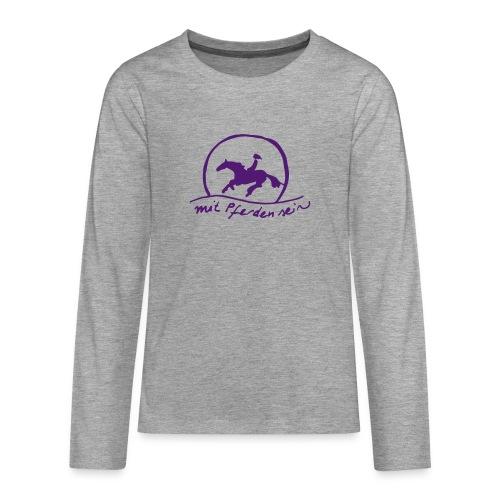 Sunst Rider - KIDS Longsleeve (Print: Lila) - Teenager Premium Langarmshirt