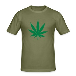 Men's Slim Fit T-Shirt - ganja t shirt weed t shirt free drugs