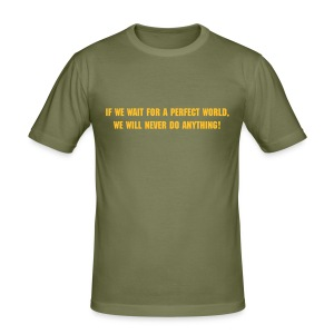 Perfect World - Men's Slim Fit T-Shirt