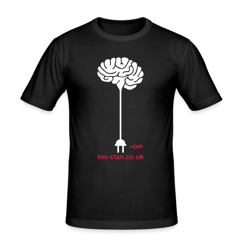 ToC Brain Unplugged T-Shirt. - Men's Slim Fit T-Shirt
