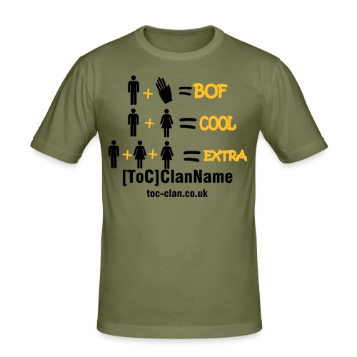 ToC BOF2COOL T-Shirt. Available in a choice of colours. - Men's Slim Fit T-Shirt