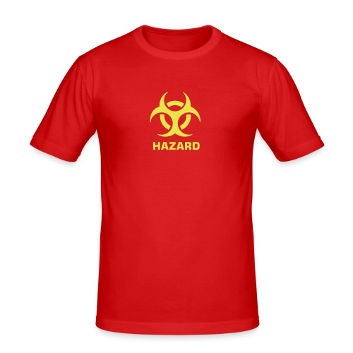 Hazard Fitted T-Shirt Red/Yellow - Men's Slim Fit T-Shirt
