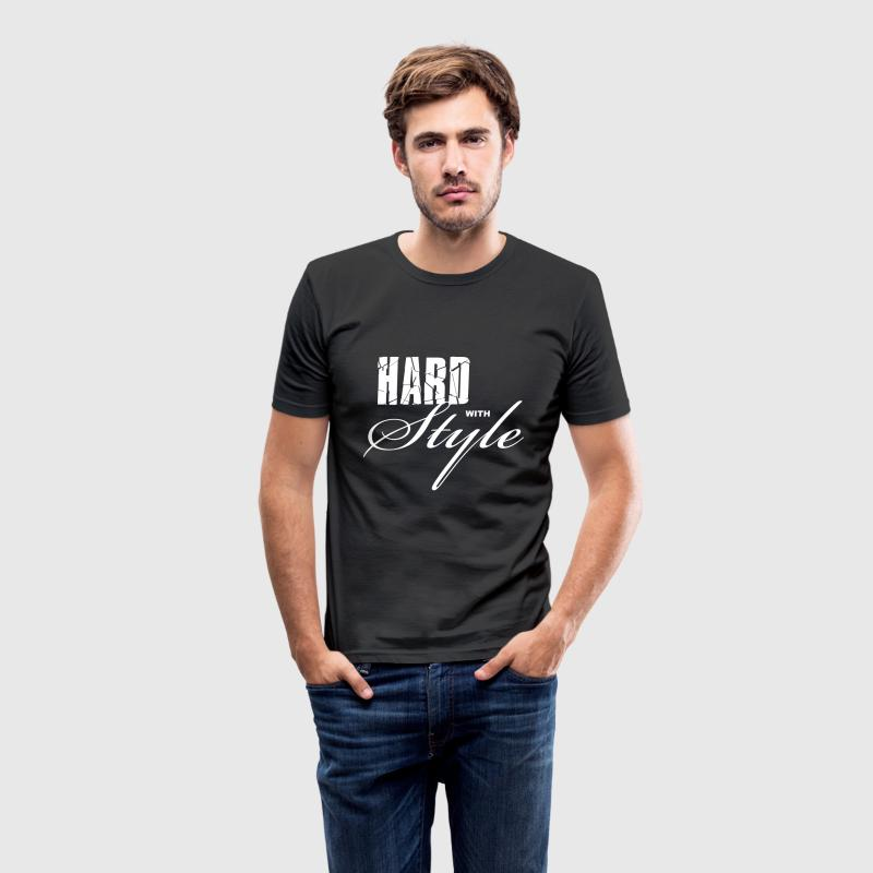 Zwart Hard with Style Heren t-shirts - slim fit T-shirt