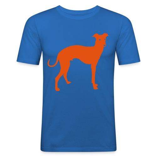 Men's Slim Fit T-Shirt - Dog T-shirt, derived from Studiocharlie's Charliedog typeface (sold on www.myfonts.com)