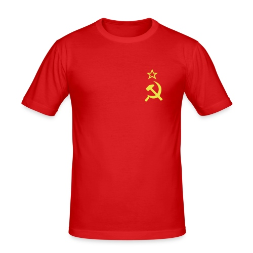 RED AND YELLOW - Slim Fit T-skjorte for menn