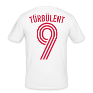 T-Shirts ~ Männer Slim Fit T-Shirt ~ TÜRBÜLENT 10 (Away)