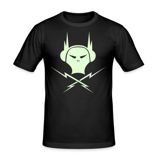 T shirt slim Electro Skull - T-shirt près du corps Homme