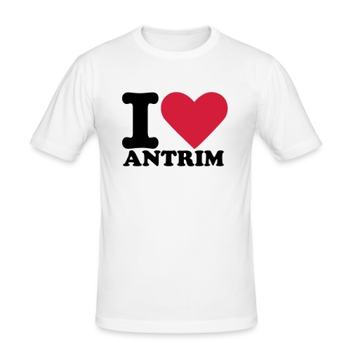 I Heart Antrim Tee (Mens Slim-Fit) - Men's Slim Fit T-Shirt