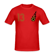 T-Shirts ~ Männer Slim Fit T-Shirt ~ TRISTESSA 13 (Home - Gold)