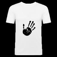 T-shirts ~ slim fit T-shirt ~ Black hand