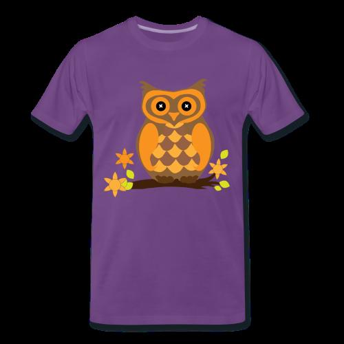 Eule Herren Shirt - Männer Premium T-Shirt