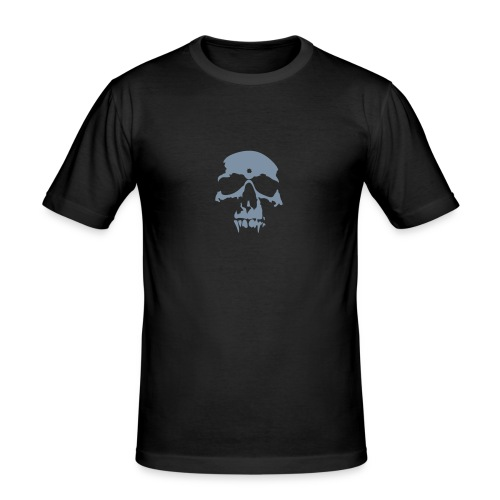 Vampire Skull T-shirt Silver - Men's Slim Fit T-Shirt