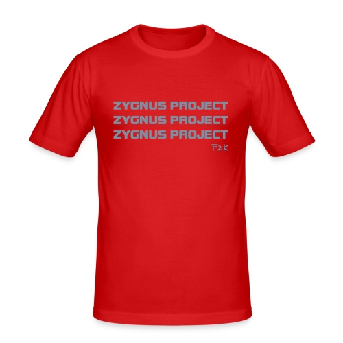 ZP Red 01 - Men's Slim Fit T-Shirt