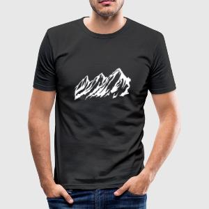 Alpen - Männer Slim Fit T-Shirt