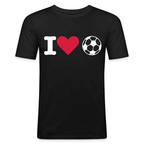 J'aime le foot - T-shirt près du corps Homme