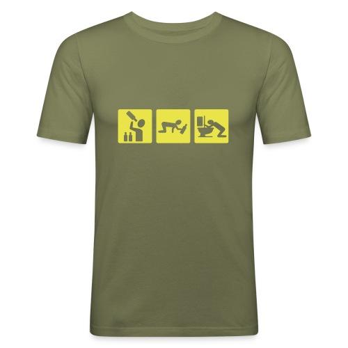Illanvietto - Miesten tyköistuva t-paita