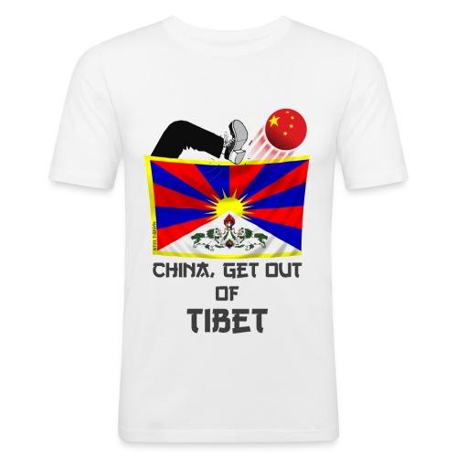 Free Tibet - T-shirt près du corps Homme