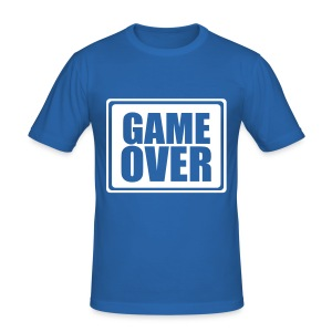 BLUE GAME OVER TEE - Men's Slim Fit T-Shirt