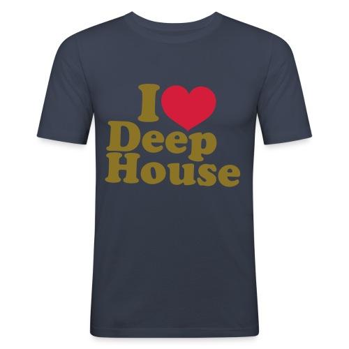 DEEP HOUSE <3 - Men's Slim Fit T-Shirt
