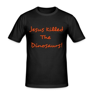 Jesuskilledthedinosaurs - Men's Slim Fit T-Shirt