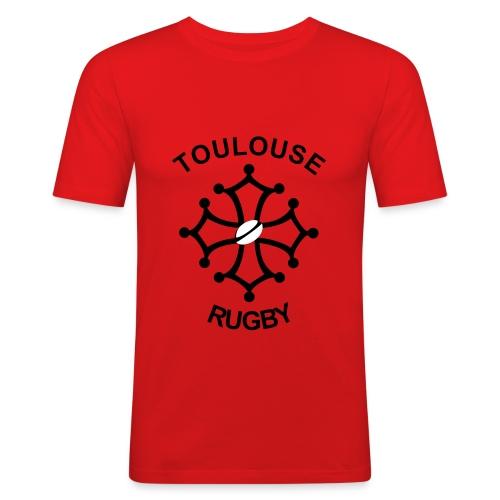 T-shirt rouge Toulouse Rugby - T-shirt près du corps Homme